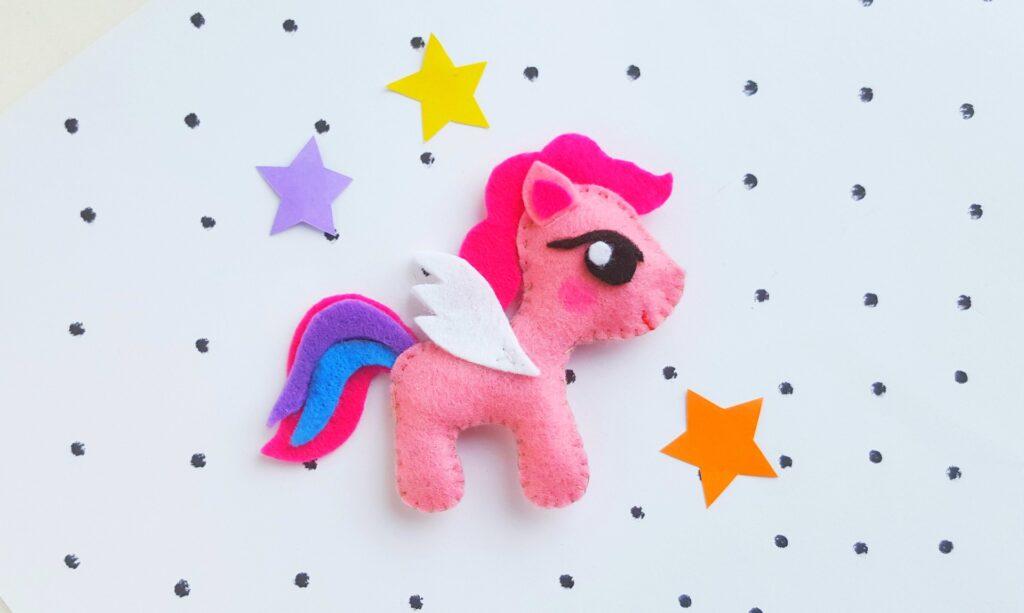 pink felt my little pony stuffed toy