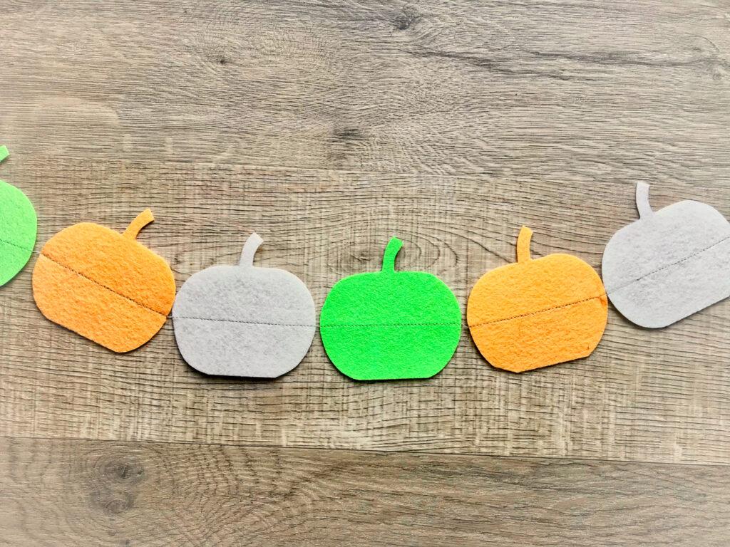 Simple Felt Pumpkin Garland Easy Things To Sew