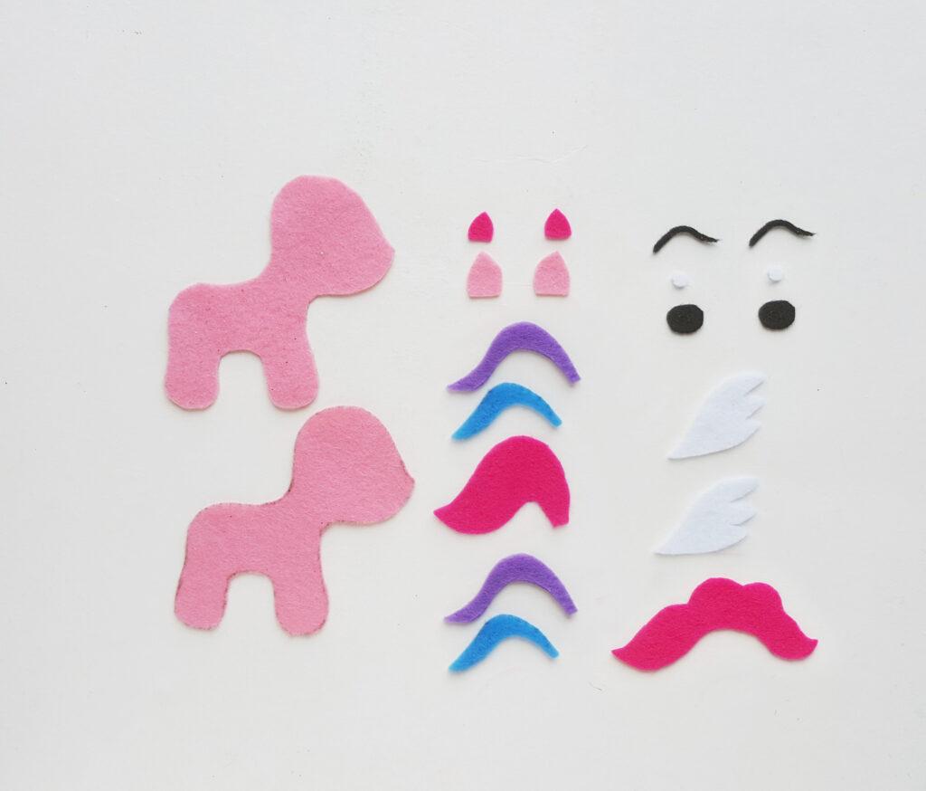 felt my little pony pattern pieces