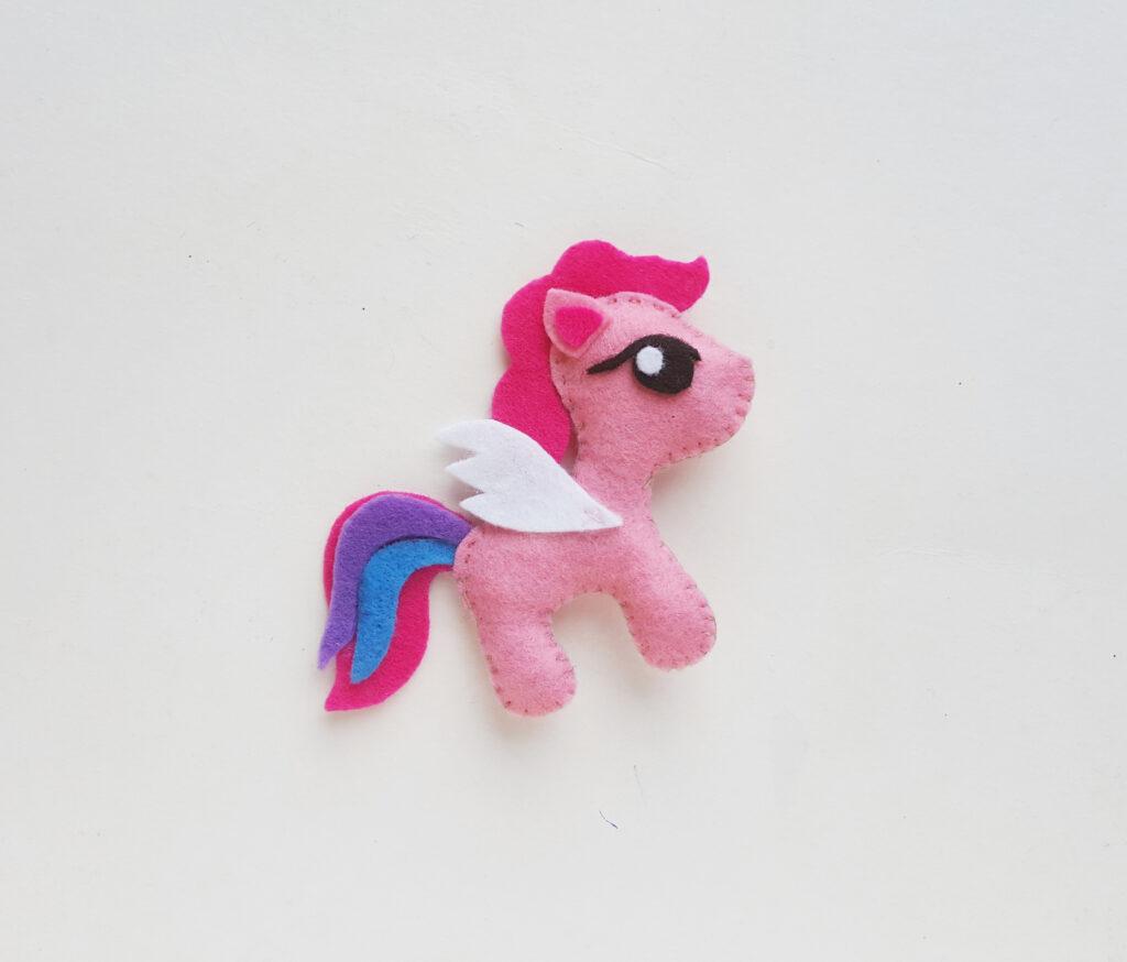 my little pony felt stuffed craft