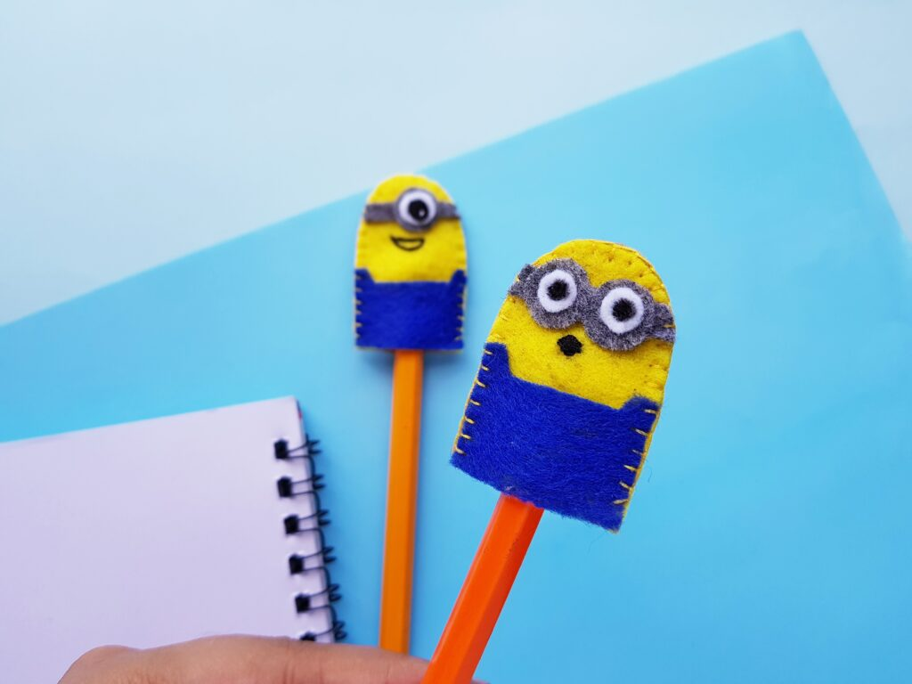 yellow and blue minion felt toys