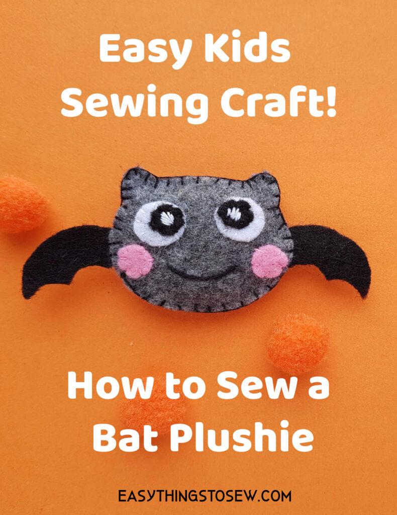 felt plush bat craft