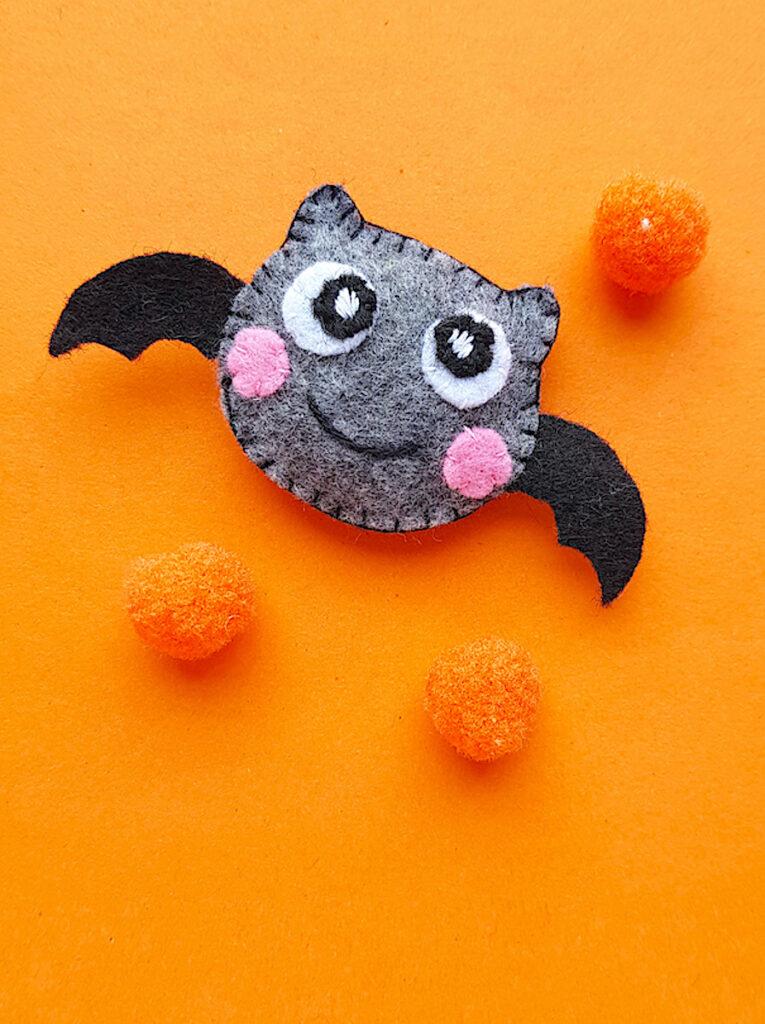 plush felt halloween bat toy