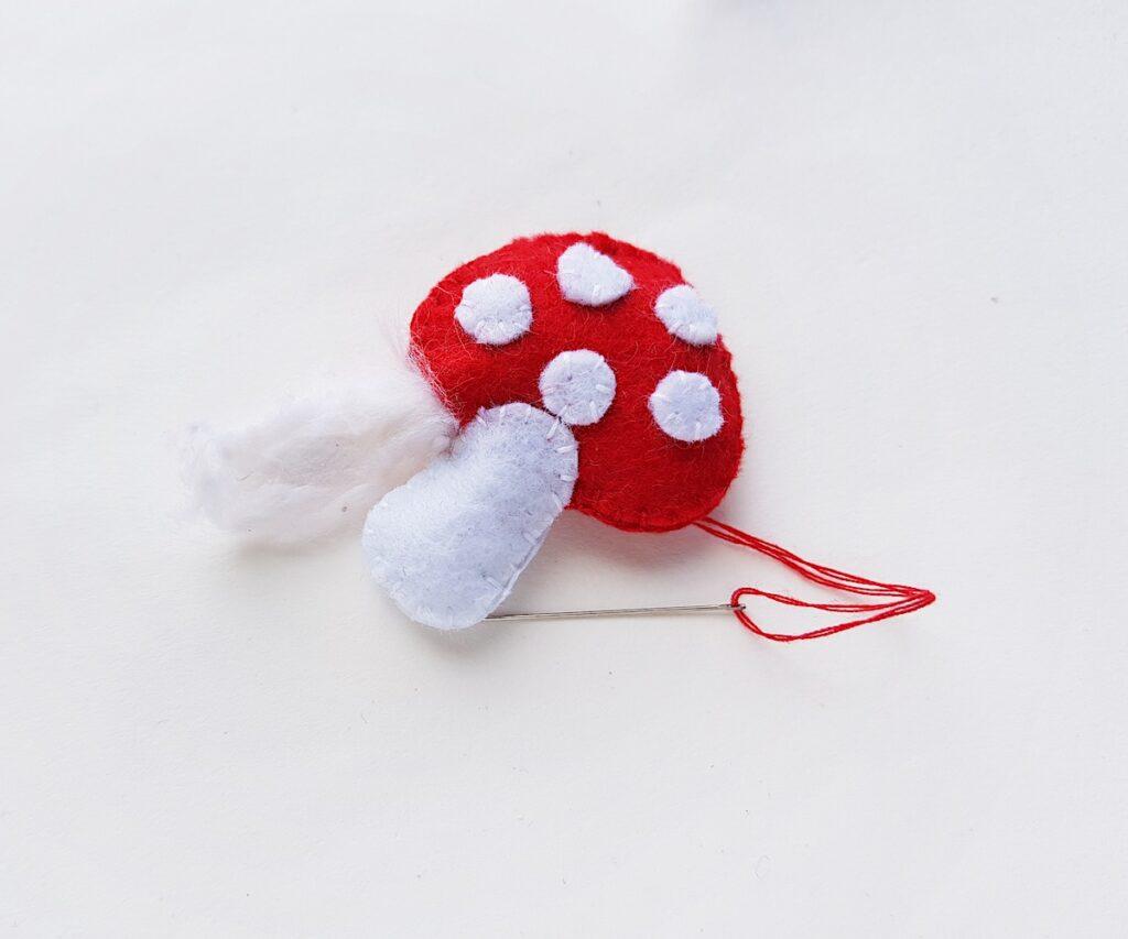 Felt Mushroom Plush stuffing with cotton filler