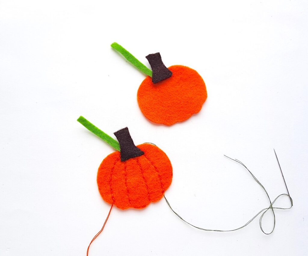 Cute Felt Pumpkin Plush cutouts