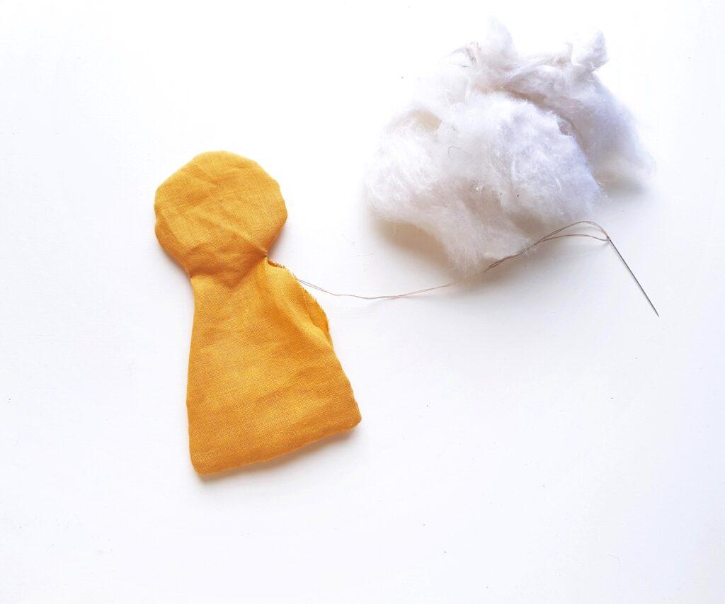 Frida Kahlo rag doll stuffed with cotton