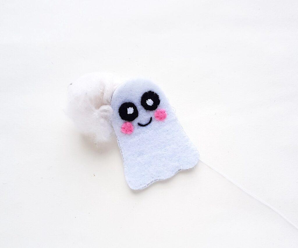Cute Ghost felt plushie cotton filler