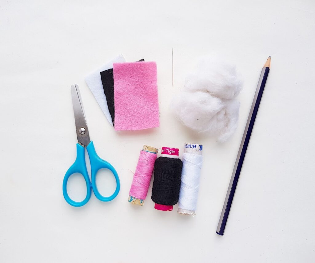 Cute Ghost felt plush craft supplies