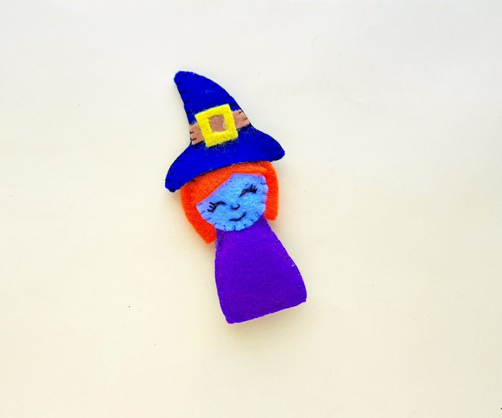 Witch Plush Doll complete on white background