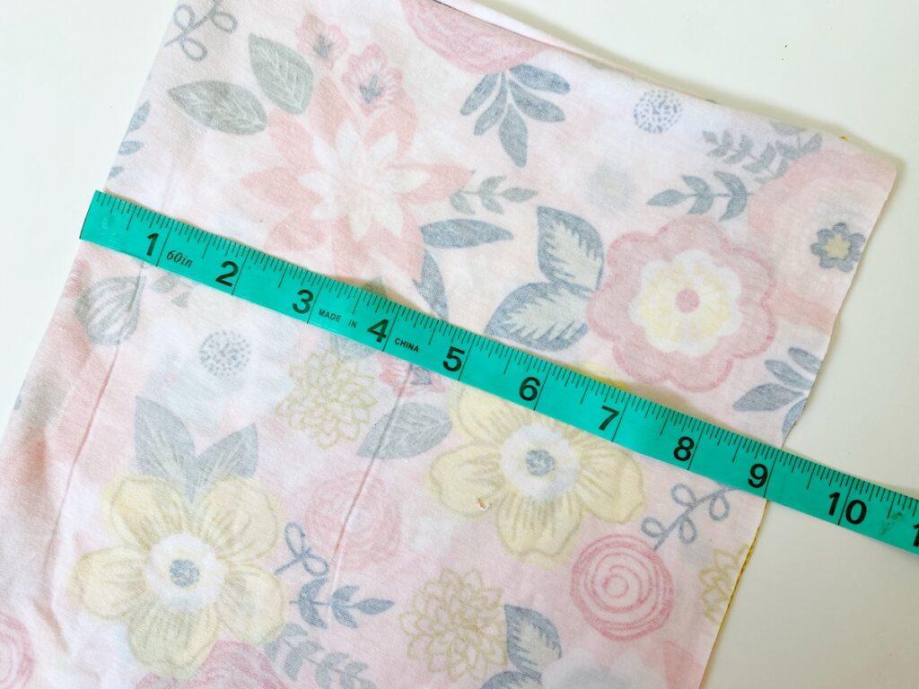 Neck Gaiter Step 1 trim fabric to correct size