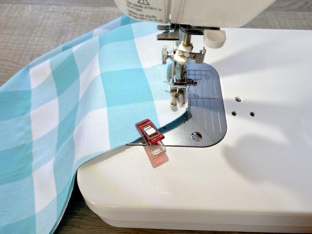 sewing seam on dog bandana