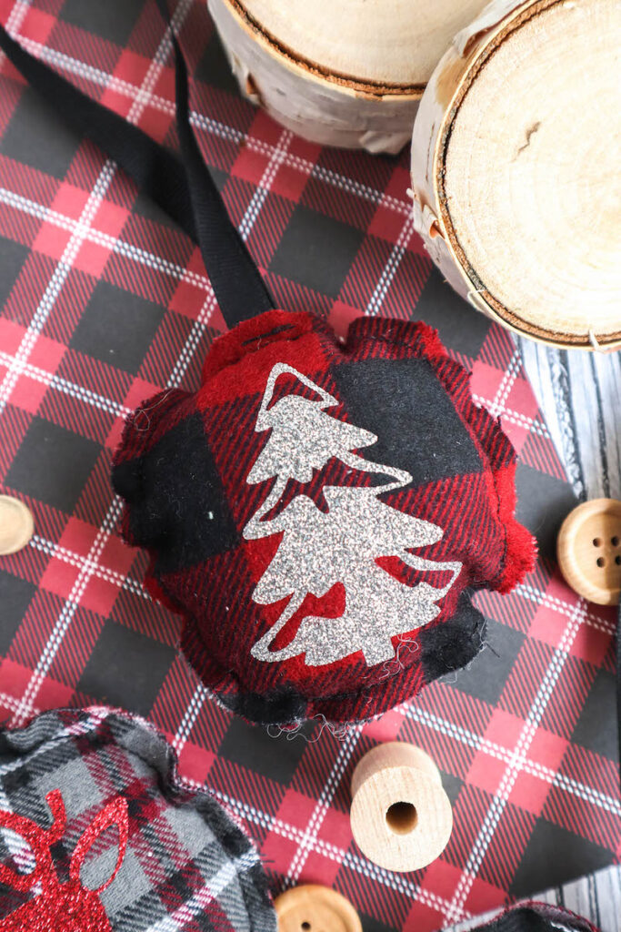 red flannel fabric easy sew Christmas ornament