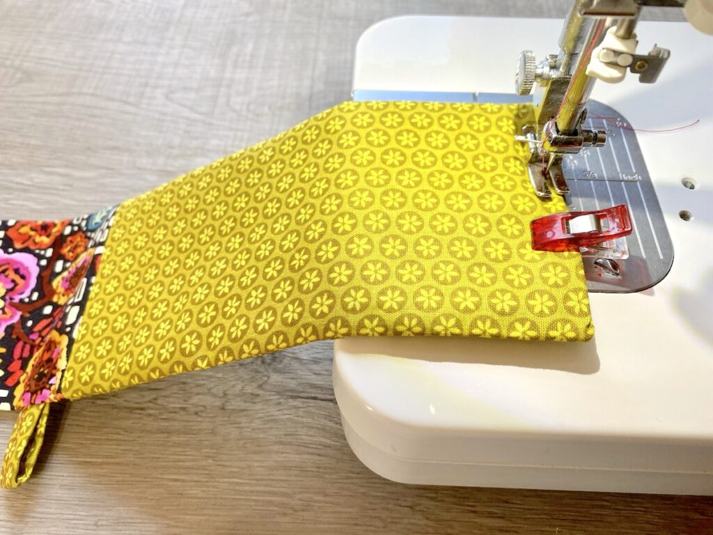 Sunglasses Case Step 13 on sewing machine