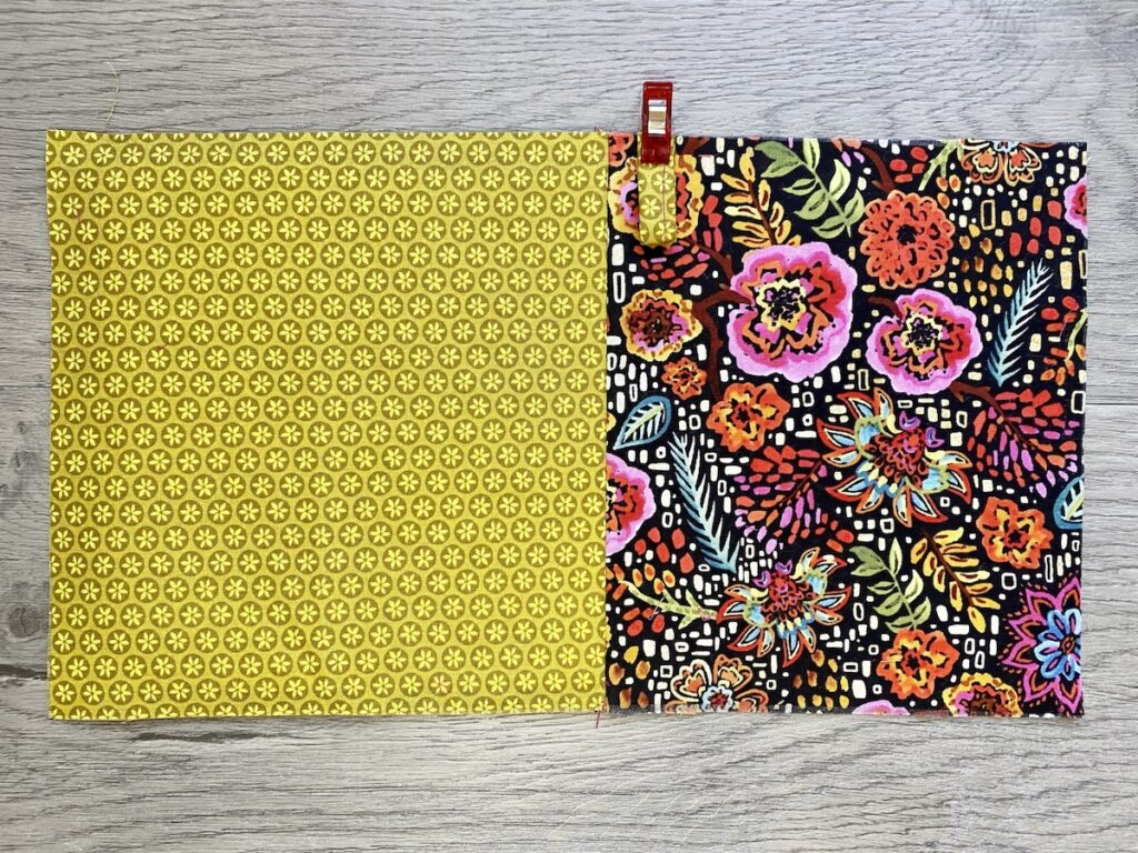 Sunglasses Case Step 7 fabric laid out on table