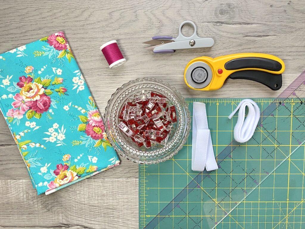 cord keeper supplies on cutting mat