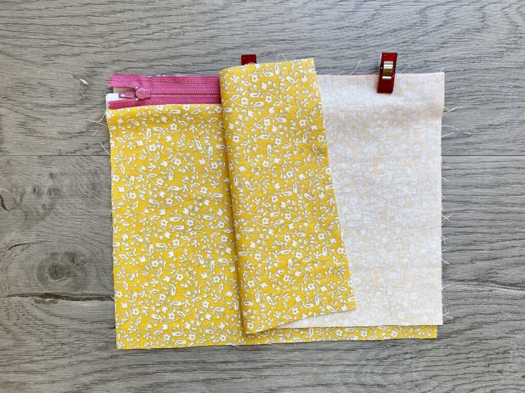 Lined Zipper Pouch Step 11