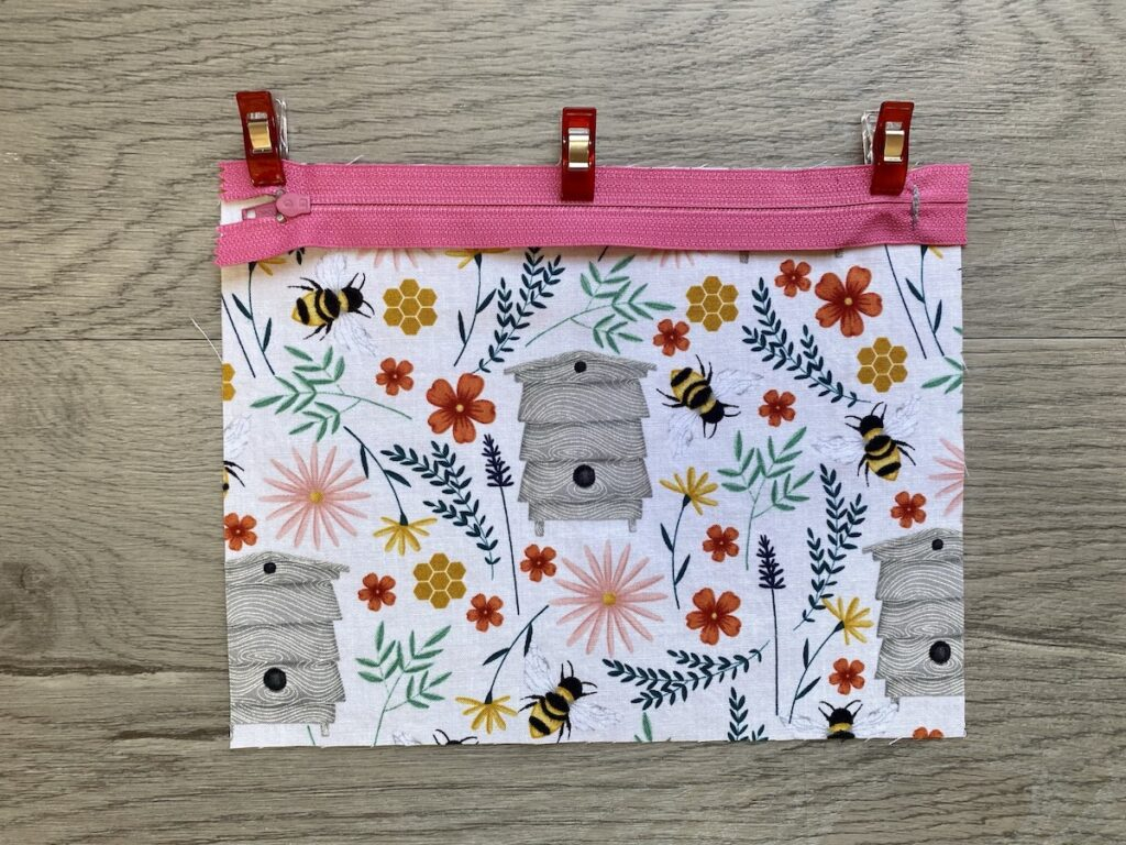 Lined Zipper Pouch Step 5