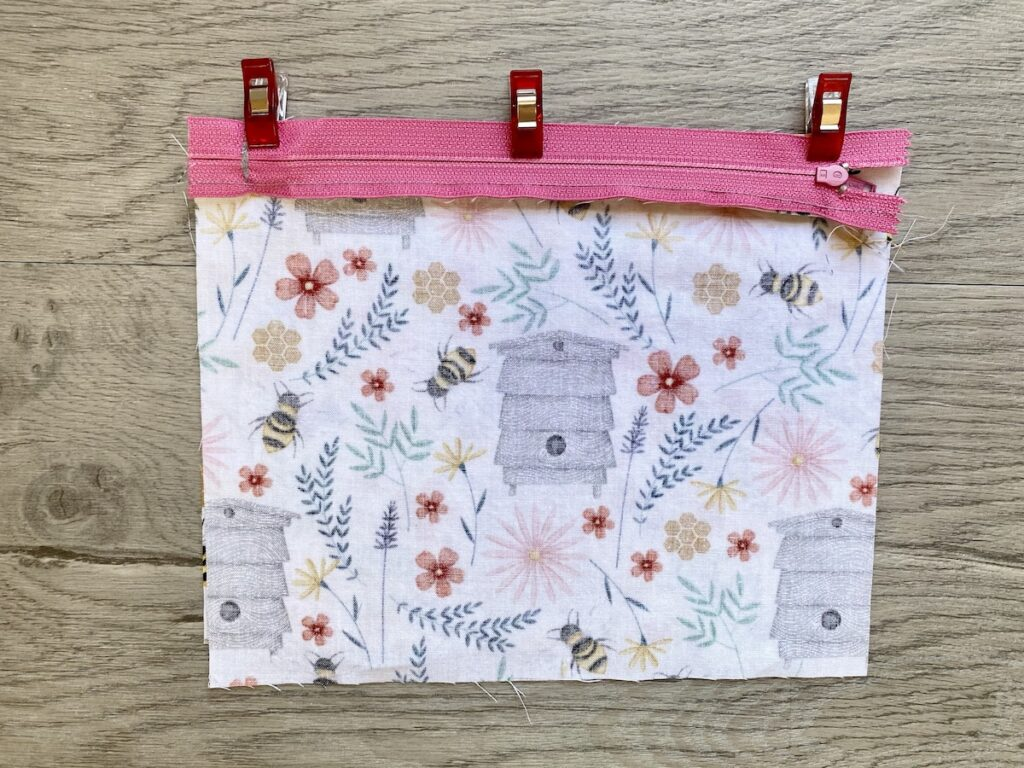 Lined Zipper Pouch Step 7