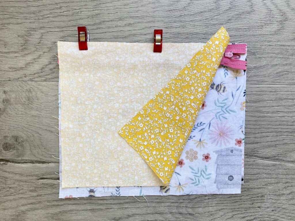 Lined Zipper Pouch Step 9