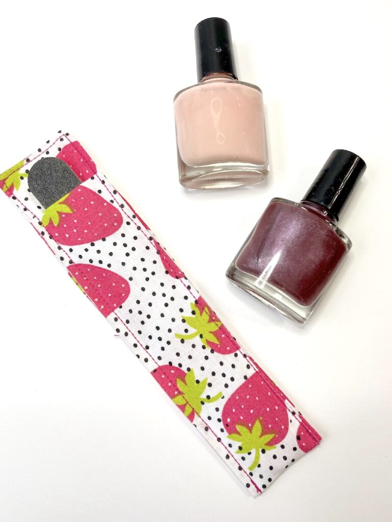 DIY Nail File Carrying Case on white background
