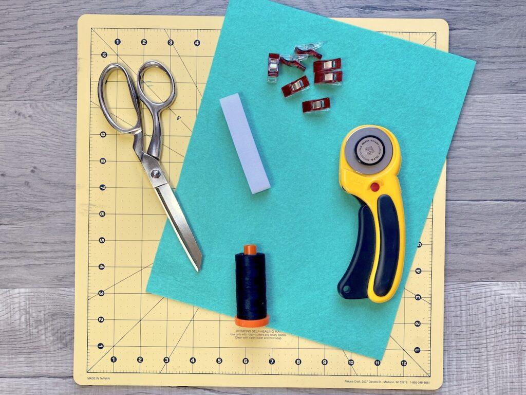 DIY planner pencil pocket supplies